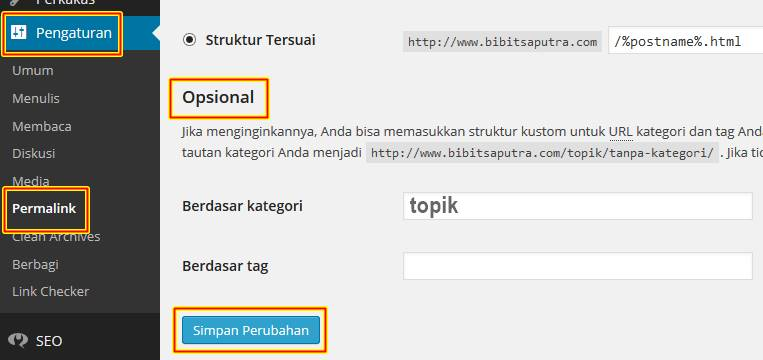 Cara Ubah Ganti Tulisan category di WordPress