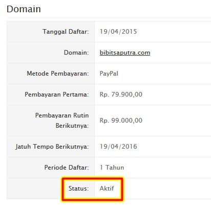 domain baru aktif