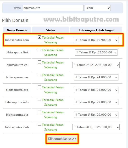 beli nama domain top