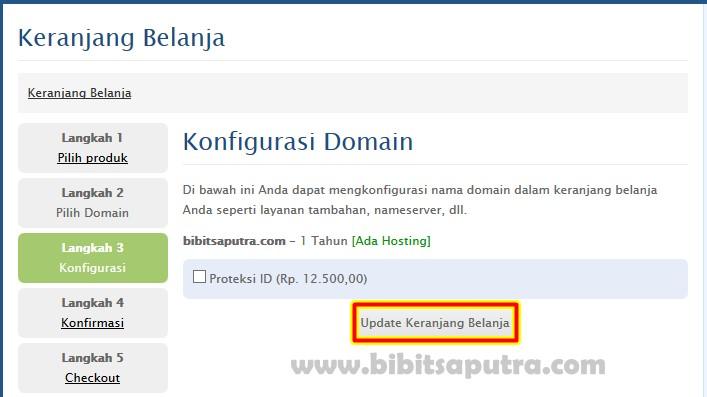 konfirmasi beli domain baru
