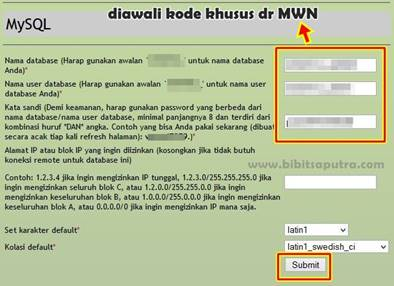 Membuat Database Baru WordPress