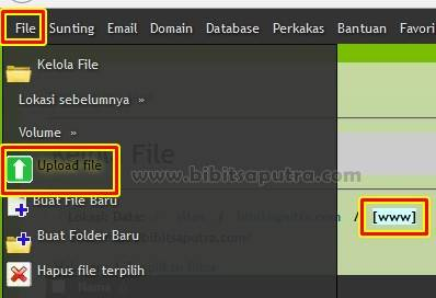 Unggah WordPress .zip ke Hosting
