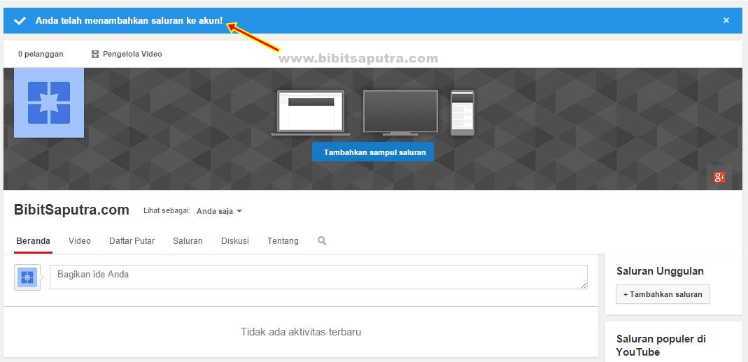 buat channel youtube 3
