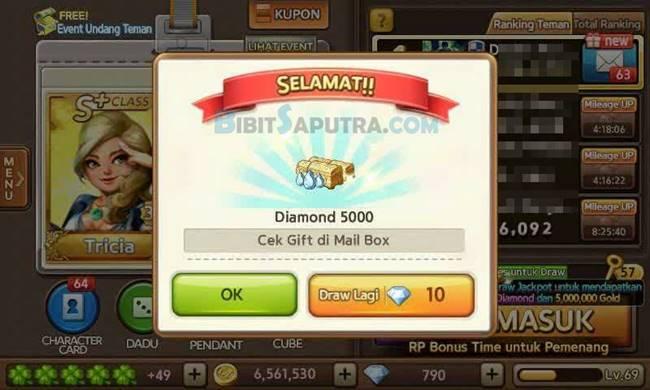 Cara Dapat Bonus Diamond 5000 LINE Lets GET Rich Gratis Tanpa WHAFF