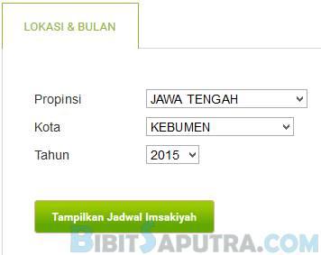 Download Jadwal Imsakiyah Kebumen 2016 Lengkap