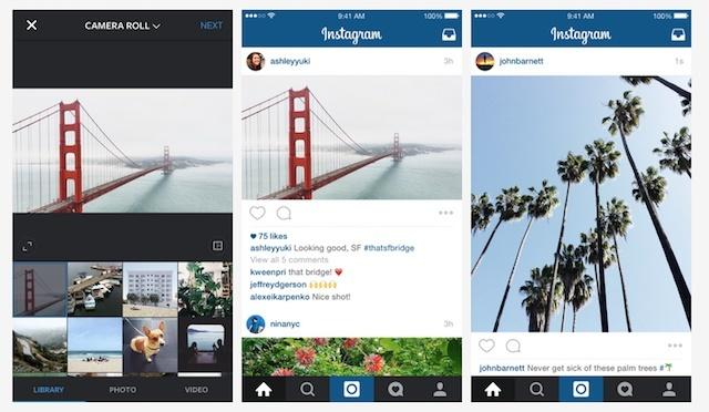 Instagram Resmi Mendukung Foto Ukuran Penuh
