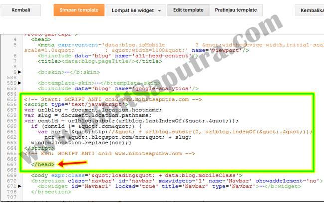 Script Anti Redirect Blogspot ke .Co.ID