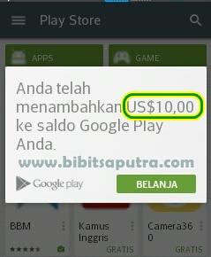Gratis Saldo Play Store $10 Dolar