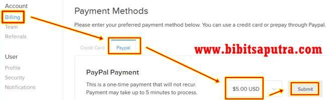 Cara Mengisi Saldo Dolar VPS DigitalOcean - 1