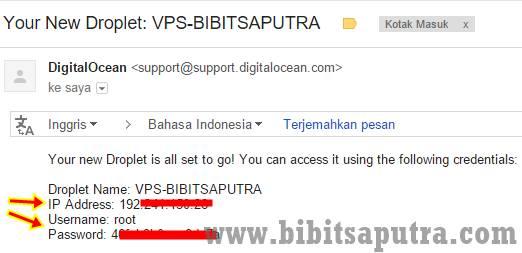 email info IP dari DO VPS