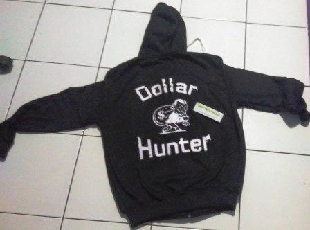Jaket Dollar Hunter Hitam Belakang