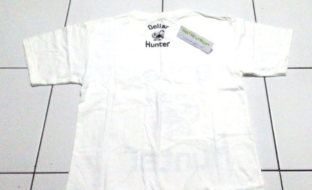 Kaos Dollar Hunter Putih BELAKANG