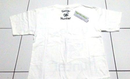 Kaos Dollar Hunter Putih BELAKANG
