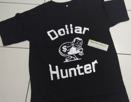 Kaos Dollar Hunter Hitam DEPAN