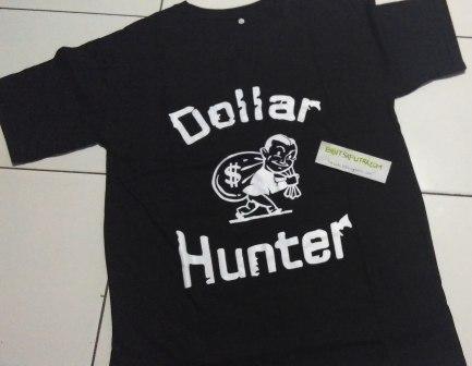 Kaos Dollar Hunter Hitam DEPAN