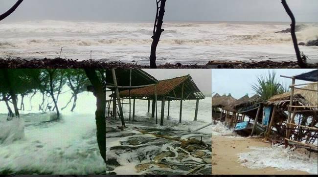 Foto-foto Banjir Rob Pantai Selatan Kebumen Suwuk Petanahan Lebupurwo Ombak Tsunami Kecil