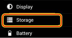 pengaturan storage android
