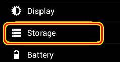 pengaturan storage android